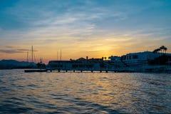 Sonnenuntergang in französischem Riviera Stockbilder