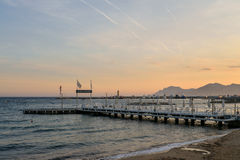 Sonnenuntergang in französischem Riviera Lizenzfreies Stockbild