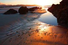 Sonnenuntergang in Fuerteventura lizenzfreies stockbild