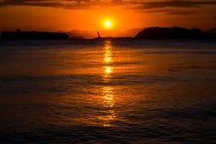 Sonnenuntergang, Gadeok-Insel, Busan, Südkorea Stockfotos