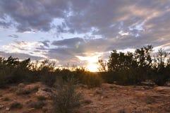 Sonnenuntergang Galisteo New-Mexiko Lizenzfreies Stockfoto