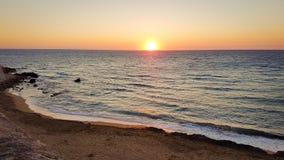 Sonnenuntergang Gallipoli Italien Stockfotos