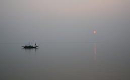 Sonnenuntergang, Ganges-Dreieck stockbild