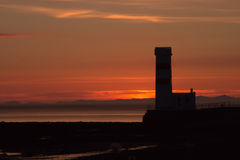 Sonnenuntergang Gardahrepp lizenzfreie stockbilder