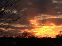 Sonnenuntergang in Georgia Lizenzfreies Stockfoto