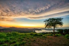 Sonnenuntergang geschossen bei Bukit Tirig Lizenzfreies Stockbild