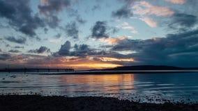 Sonnenuntergang-Gezeiten stock footage