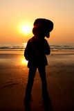 Sonnenuntergang-Gitarrist Lizenzfreie Stockfotografie