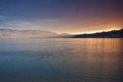 Sonnenuntergang-Glühen Lizenzfreies Stockfoto