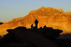 Sonnenuntergang-Glühen am Kapitol-Riff Stockbild