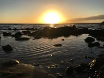 Sonnenuntergang-Glasstrand Kauai Lizenzfreies Stockfoto