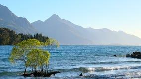Sonnenuntergang-Glories See Wakatipu Lizenzfreie Stockbilder
