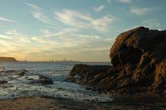 Sonnenuntergang Gold Coast Stockfotos