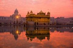 Sonnenuntergang am goldenen Tempel. Lizenzfreie Stockfotografie