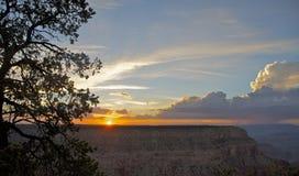 Sonnenuntergang Grand Canyon, Sonnenuntergang Stockbild