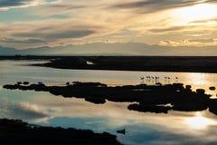 Sonnenuntergang in Griechenland Lizenzfreie Stockfotos