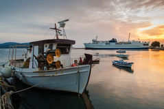 Sonnenuntergang in Griechenland Lizenzfreie Stockbilder