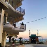 Sonnenuntergang in Griechenland Stockbilder