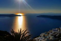 Sonnenuntergang Griechenland Stockbilder