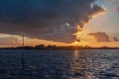 Sonnenuntergang in Groningen stockbilder
