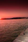 Sonnenuntergang am Hafen Lizenzfreies Stockbild