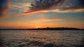 Sonnenuntergang Hagia Sophia lizenzfreies stockfoto