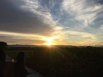 Sonnenuntergang hell Lizenzfreie Stockbilder