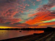 Sonnenuntergang-Helligkeit Lizenzfreie Stockbilder