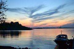 Sonnenuntergang in Helsinki Lizenzfreies Stockbild