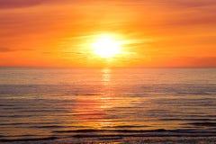 Sonnenuntergang an Henne-Strang 6 Stockbilder