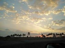 Sonnenuntergang, herum 7 Stockfoto