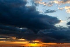 Sonnenuntergang-Himmel stockfoto