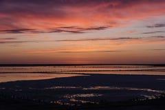 Sonnenuntergang-Himmel-Wolken Empfindliche Schatten des Sonnenunterganghimmels lizenzfreies stockfoto
