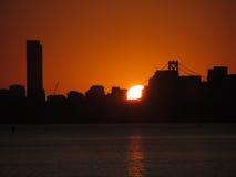 Sonnenuntergang hinter San Francisco Stockfotografie