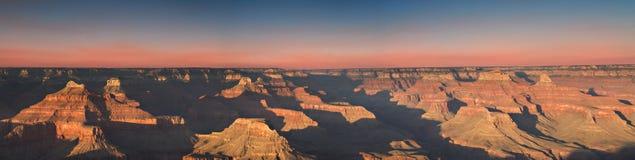 Sonnenuntergang am Hopi-Punkt, Grand Canyon lizenzfreie stockfotos