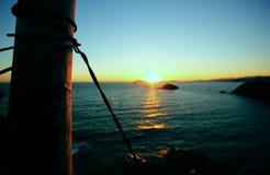 Sonnenuntergang-Horizont Lizenzfreie Stockbilder