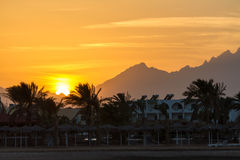 Sonnenuntergang in Hurghada, Ägypten Lizenzfreie Stockfotos
