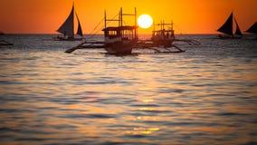 Sonnenuntergang I Asien Stockfoto
