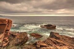 Sonnenuntergang im Acadia-Nationalpark - HDR-Bild Stockbilder