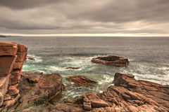 Sonnenuntergang im Acadia-Nationalpark - HDR-Bild Lizenzfreie Stockfotografie