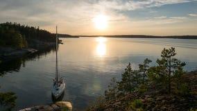 Sonnenuntergang im Archipel Lizenzfreies Stockbild