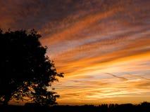 Sonnenuntergang im Auge lizenzfreie stockfotos