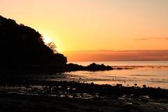 Sonnenuntergang im Ayrshire-Rind, Schottland Lizenzfreie Stockbilder