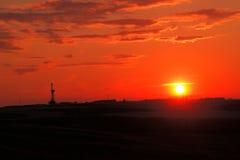 Sonnenuntergang im Bakken stockfotografie