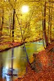 Sonnenuntergang im frühen Herbst lizenzfreie stockfotos
