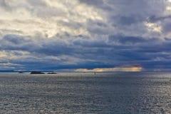 Sonnenuntergang im Heiligen-Malo. Lizenzfreies Stockfoto