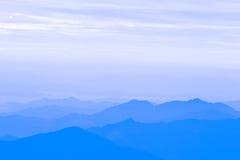 Sonnenuntergang im Himalaja Lizenzfreies Stockbild