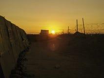 Sonnenuntergang im Irak Lizenzfreies Stockbild