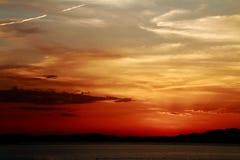 Sonnenuntergang im La Manga Stockbilder