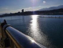 Sonnenuntergang im Meer Lizenzfreies Stockfoto